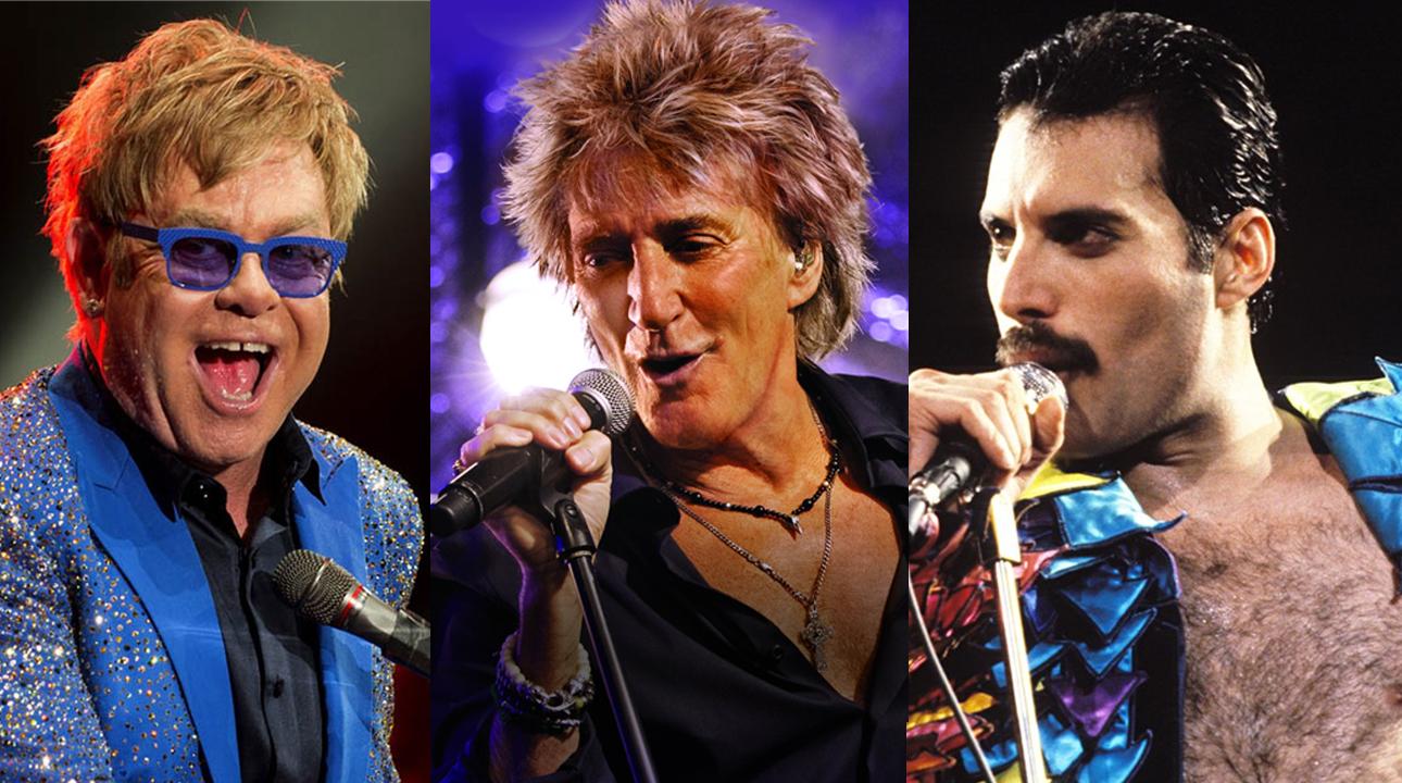 Elton John Rod Stewart Freddie Mercury