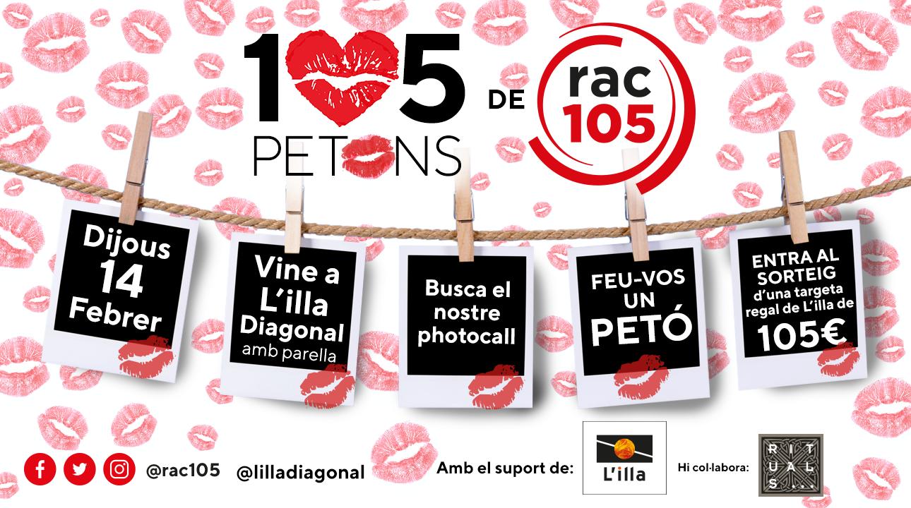 Feu-vos petons per Sant Valentí amb l'Illa Diagonal