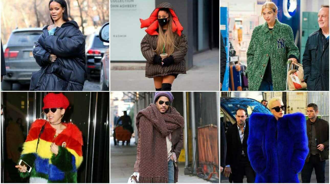 Les peces de roba més extravagants dels famosos per protegir-se del fred