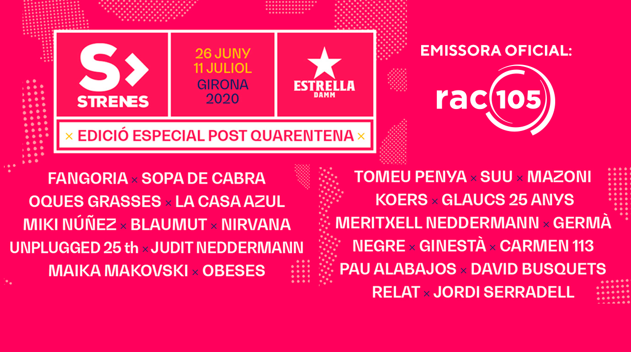 El Festival Strenes es farà del 26 de juny a l'11 de juliol
