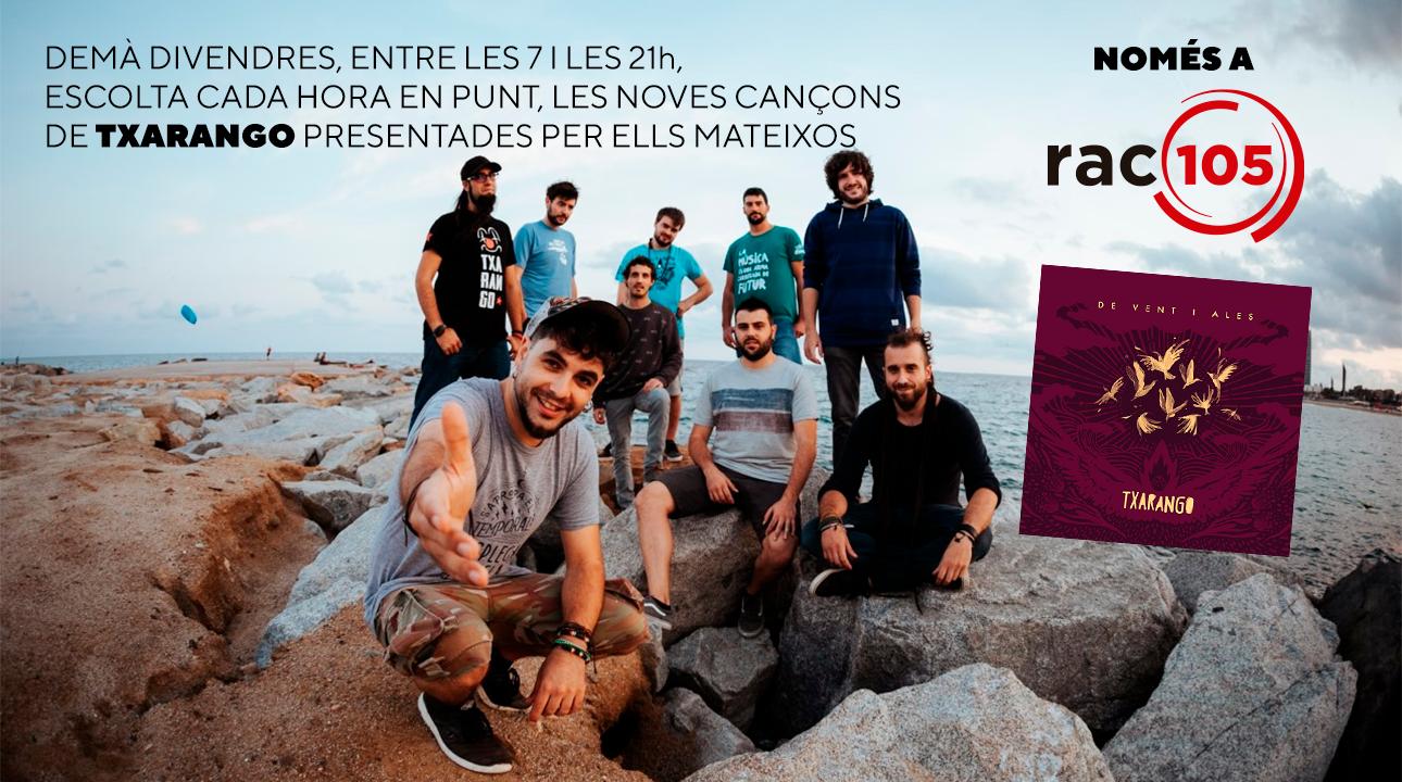 Alguer Miquel presenta totes les cançons del disc nou de Txarango a RAC105