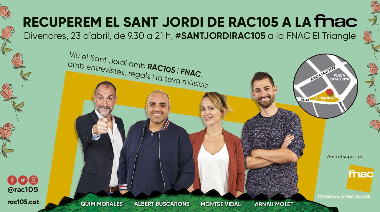 Torna el #SantJordiRAC105 en directe des de la FNAC El Triangle