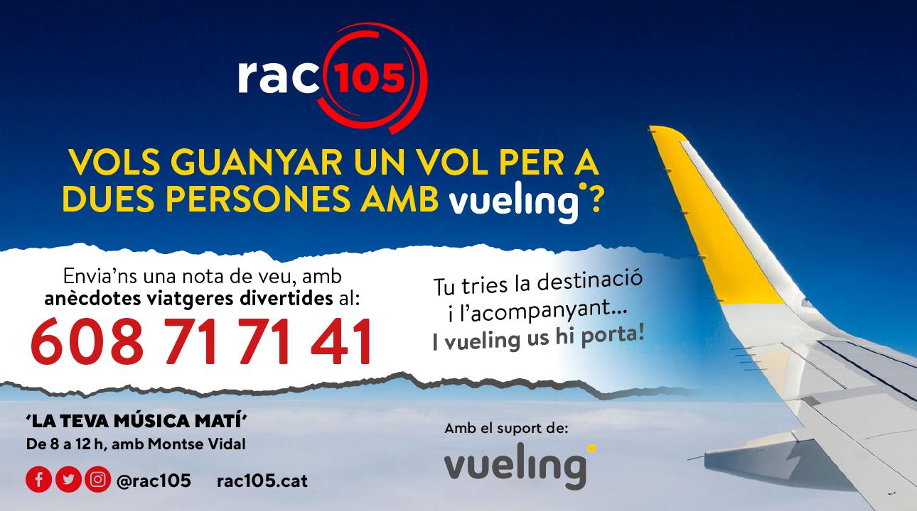 Guanya un vol per a dues persones amb Vueling